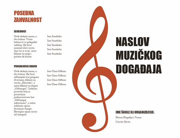 Muzički program