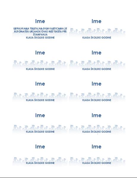 Kartice sa imenima diplomaca (10 po stranici)