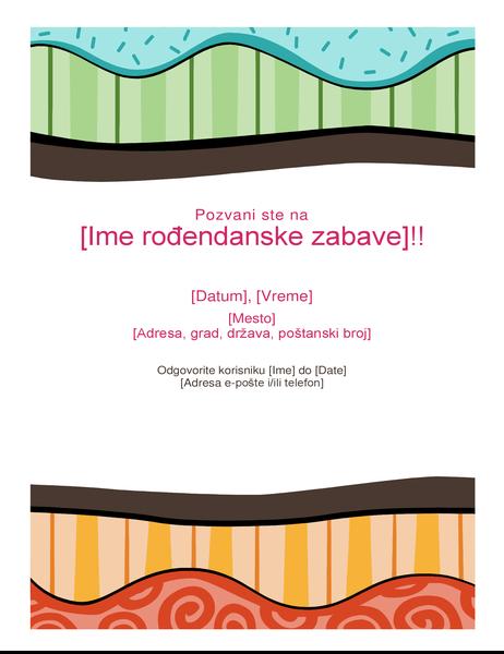 Rođendanski letak (Svetao dizajn)