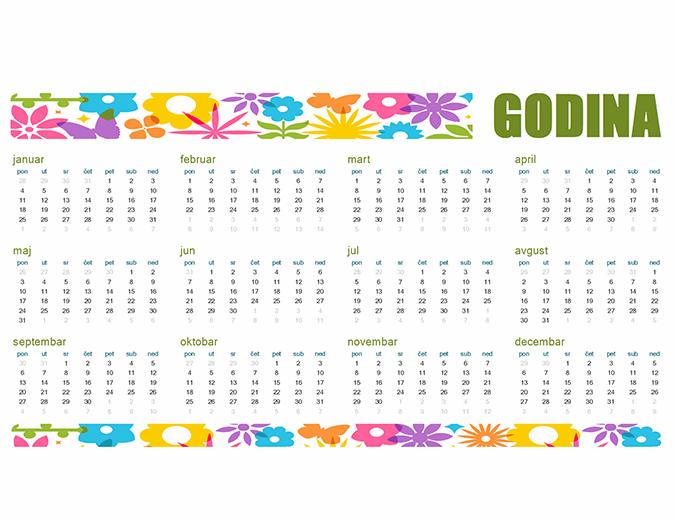 Zabavan kalendar za bilo koju godinu