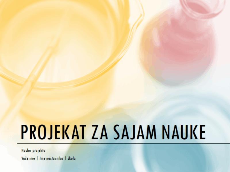 Prezentacija projekta za sajam nauke