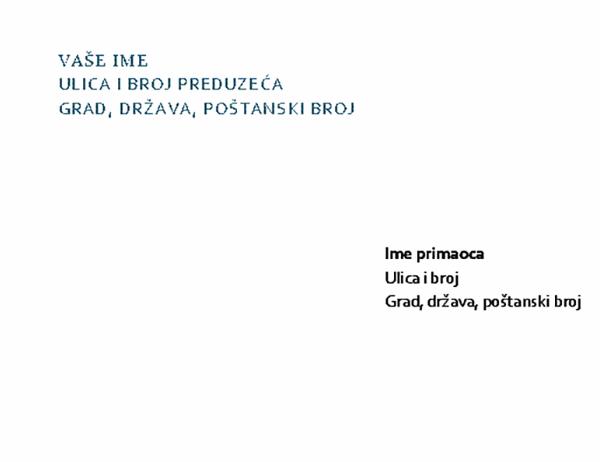 Memorandum i koverta