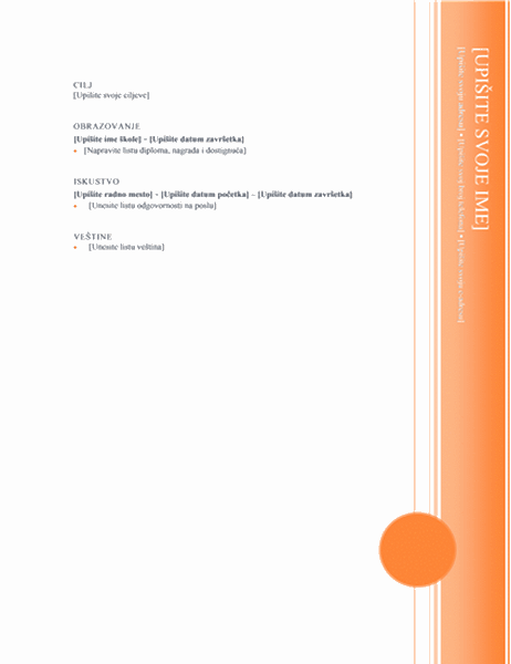 Radna biografija (Oriel dizajn)