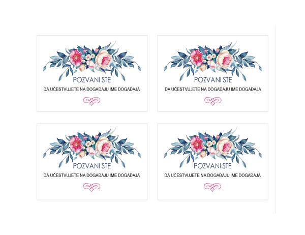 Pozivnica za zabavu (cvetni dizajn)