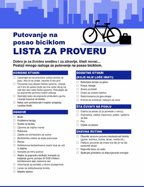 Podsetnik za putovanje biciklom na posao