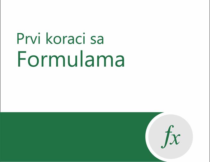 Uputstvo za formule