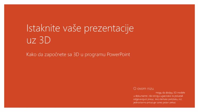 Oživite vaše prezentacije pomoću funkcije 3D