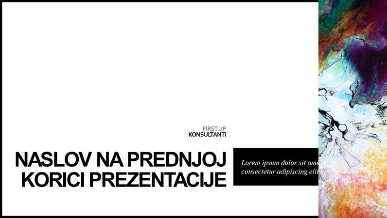 Minimalistička prezentacija u boji