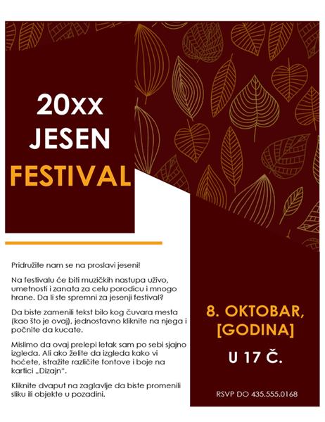Letak za jesenji festival