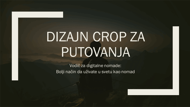 Dizajn Crop za putovanja