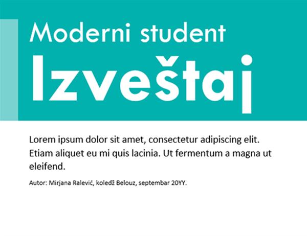 Šareni predložak za studentske izveštaje