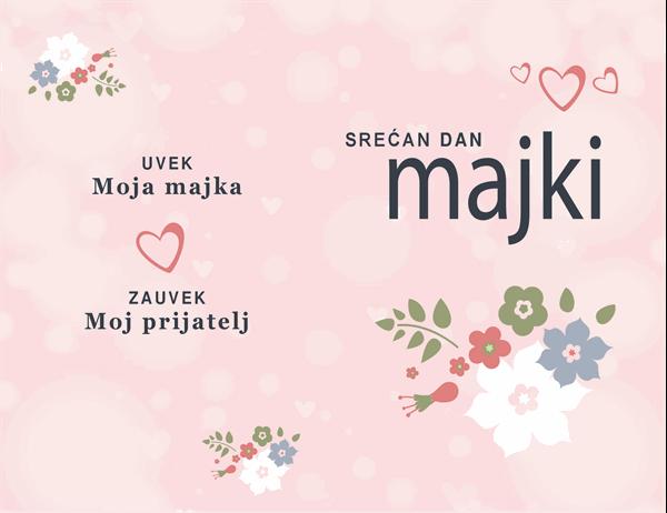 """Kartica za Dan majki """"Lepa u ružičastom"""""""