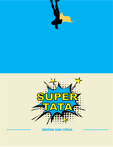 "Kartica za Dan očeva ""Super tata"""