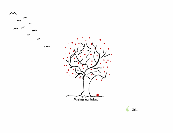 Saučešće sa motivom drveta