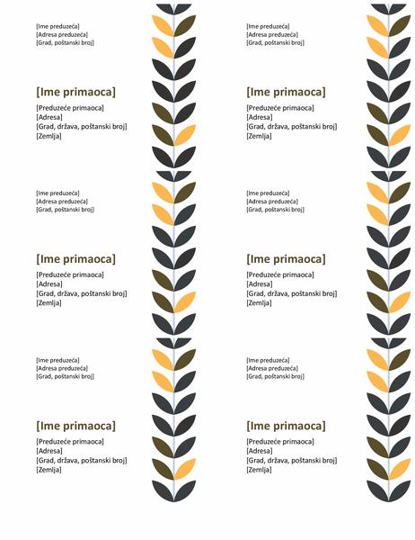 Etikete za vino (6 po stranici)