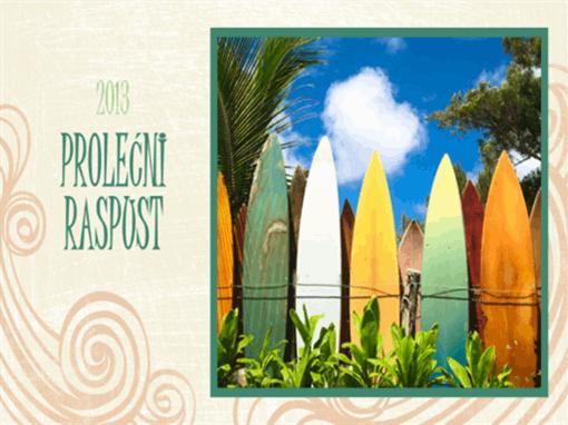 Foto-album sa prolećnog raspusta (dizajn plaže, široki ekran)