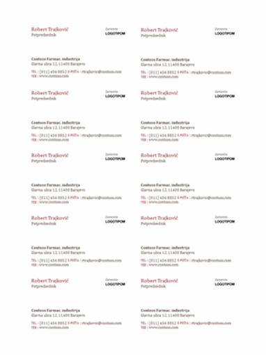 Vizitkarte sa logotipom (10 na stranici)