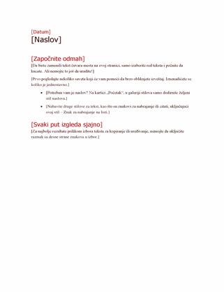 Podebljan prikaz strukture plana projekta