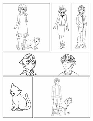 Manga strip
