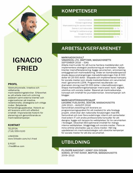 Marknadsförings-CV