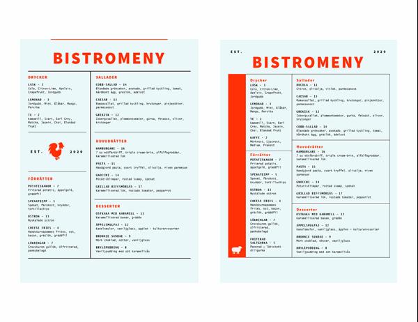 Bistromeny