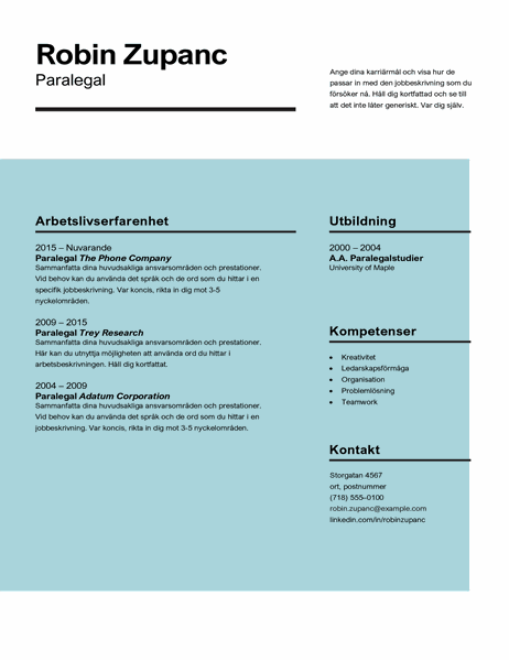 Effektfullt CV