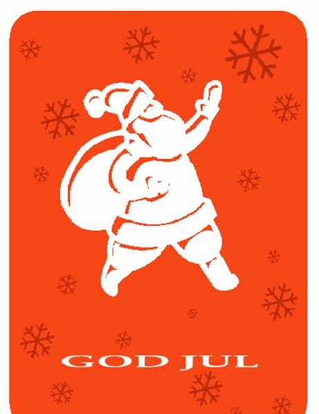 Julkort (med jultomte)