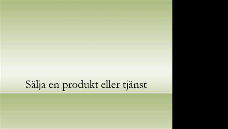 Presentation om produkt eller tjänst