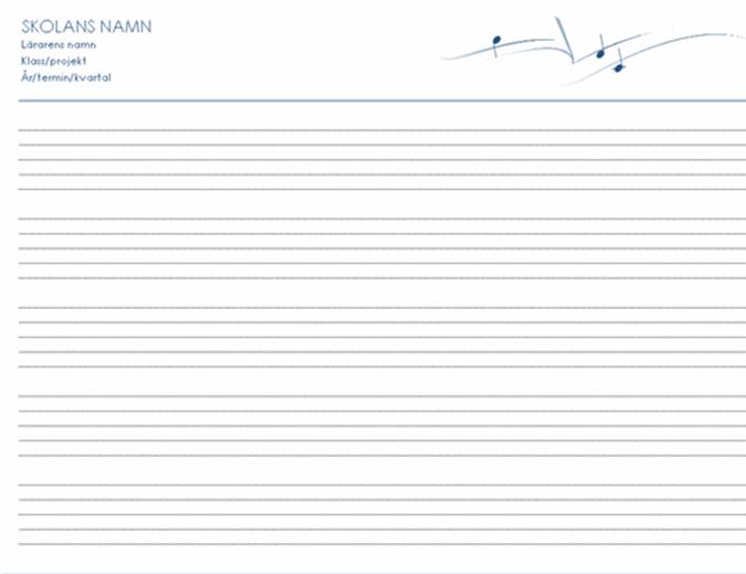 Personaluppgifter – allmänt (liggande, 5/sida)