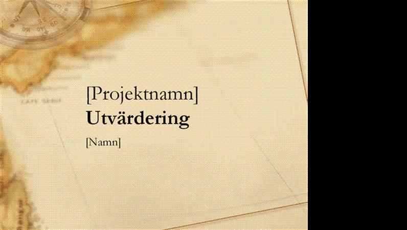 Presentation om utvärdering av projekt