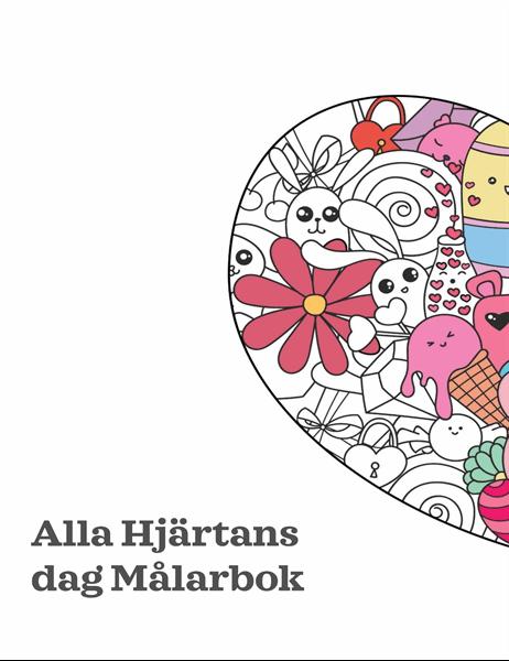 Målarbok för Alla hjärtans dag