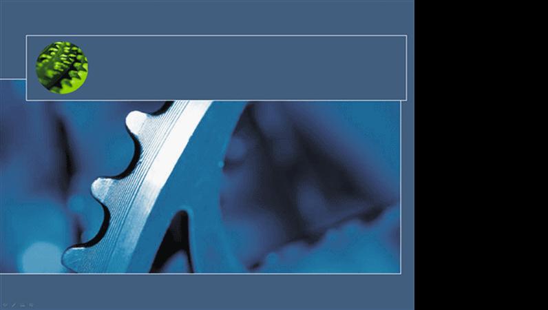 Formgivningsmall: blått svänghjul