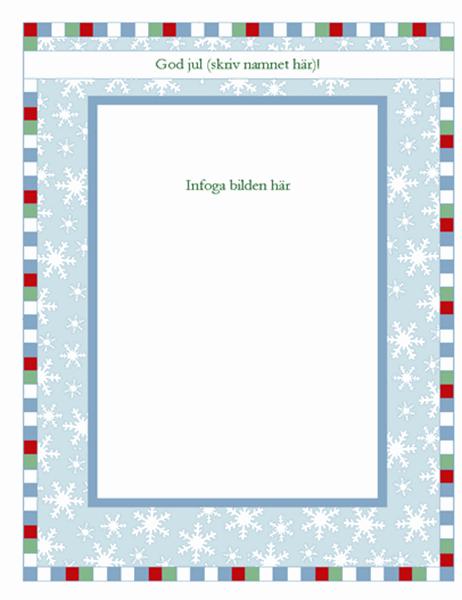 Julinspirerat mönster och foto för textiltryck (med snöflingor, fungerar med Avery 3271, 3275 och 3279)