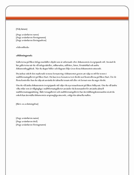 Brev för dokumentkoppling (stiligt)