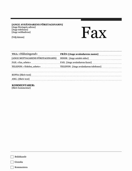 Fax för dokumentkoppling (strikt)