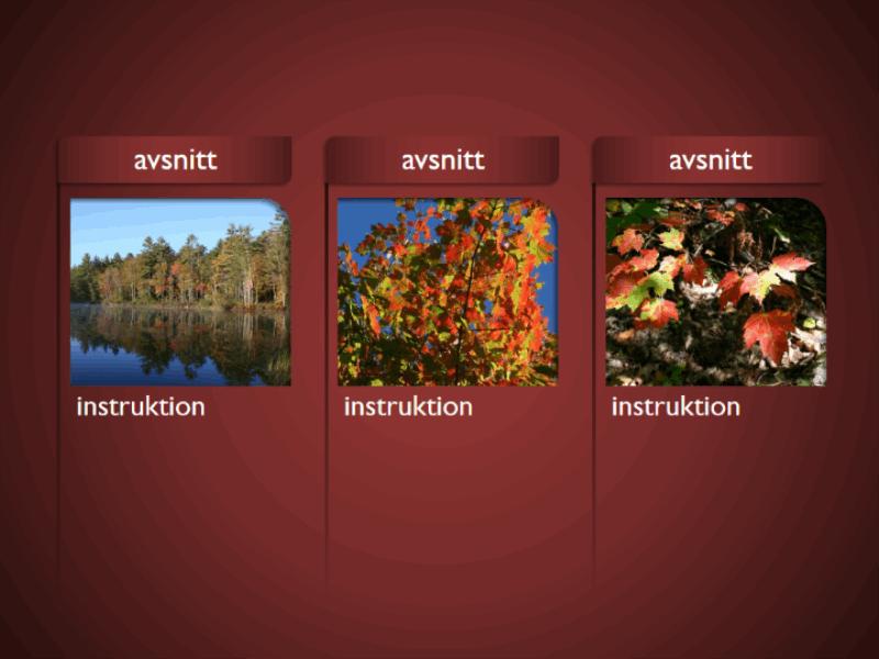 SmartArt-grafik med bilder på röd bakgrund