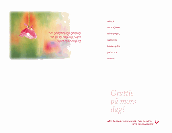 Mors dag-kort (vattenfärg)