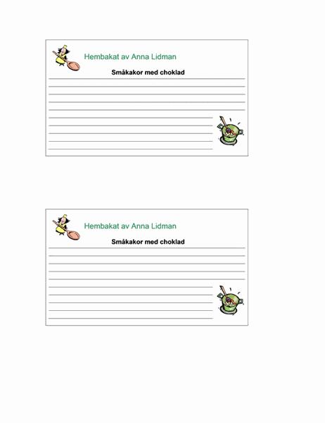Receptkort (anpassade, 2/sida)