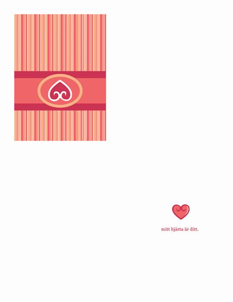 Kärlekskort (röd design)