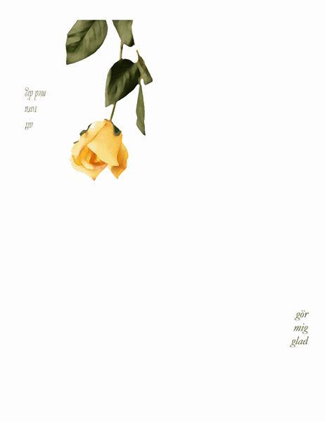 Romantiskt kort (med ros)