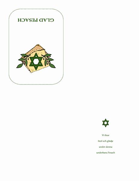 Pesach-kort (med Davidsstjärna)