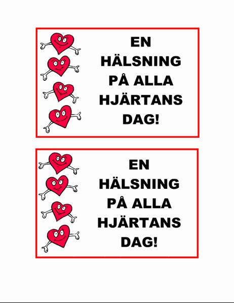 Alla hjärtans dag-vykort