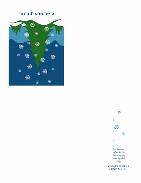 Julkort från företag (med snömotiv)