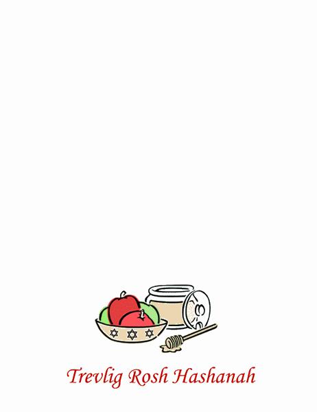 Rosh Hashanah-kort (med äpplen och honung)