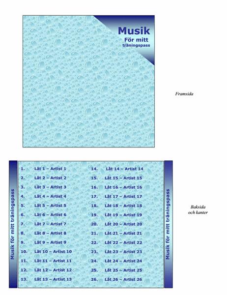 CD-omslag (för träningspass)