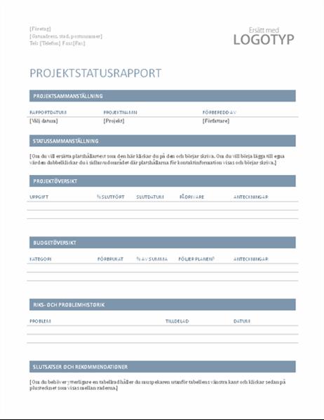 Projektstatusrapport