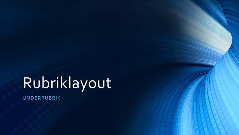 Digital företagspresentation med blå tunnel (bredbild)