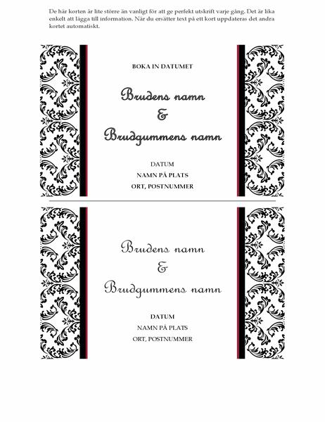 Bröllopsinbjudningskort (svartvit bröllopsdesign)