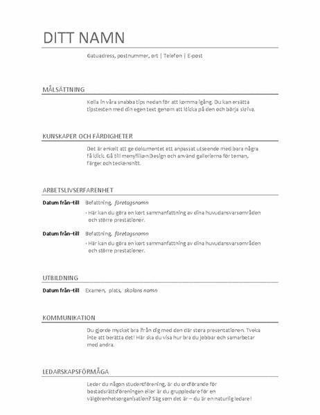Meritförteckning