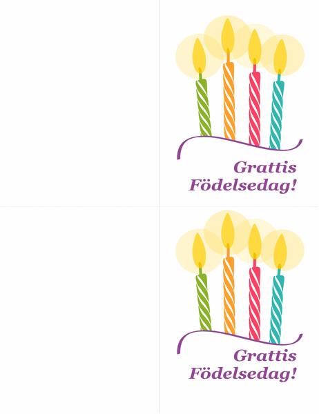 Gratulationskort (2 per sida)